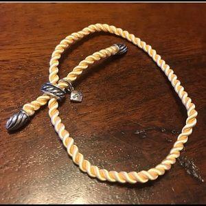 Authentic David Yurman bracelet. Golden silk rope